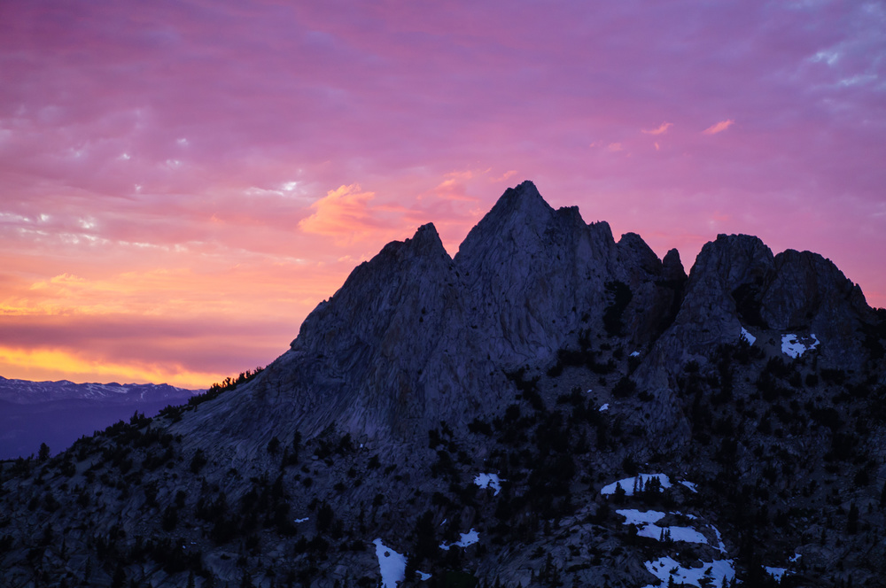 sunset over Echo Peaks
