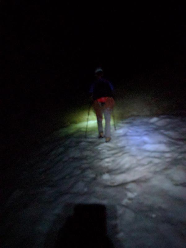 snowfields in the dark